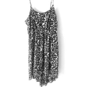 Forever 21 Leopard print high/ low dress